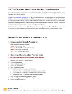 Archive Migration - Best Practices Overview
