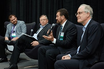 Greg Muller (2nd from L) in #AskIndustry Vendor Discussion Panel at SIIM 2017.