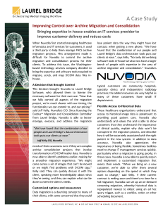 Nuvodia Improving Control over Archive Migration and Consolidation